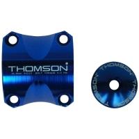 Thomson Elite X4 MTB Zacisk do mostka + Kapa sterów 1 i 1/8 cala niebieska