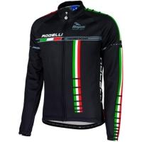 Rogelli Team 16 Koszulka ocieplana z długim rękawem czarna
