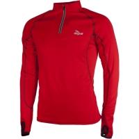 Rogelli Cambria Koszulka biegowa długi rękaw czerwona