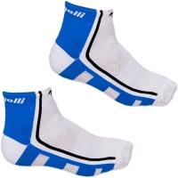 Rogelli RCS-04 Q Skin Skarpetki rowerowe biało niebieskie