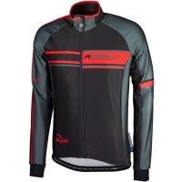 Rogelli Andrano Bluza rowerowa czarno szaro czerwona