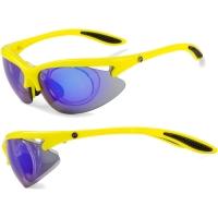 Accent Onyx Okulary rowerowe żółte fluoro niebieska soczewka