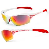 Accent Crest Okulary rowerowe białe czerwone szaro czarno czerwona soczewka