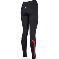 Rogelli Emna Spodnie rowerowe długie czarno czerwone