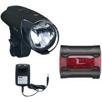Busch & Muller  Ixon IQ Premium + Ixback Zestaw lampek rowerowych LED 80 lux