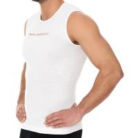 Brubeck Run PRO Bezrękawnik biegowy termoaktywny biały
