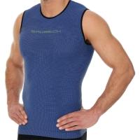 Brubeck Run PRO Bezrękawnik biegowy termoaktywny ciemnoniebieski