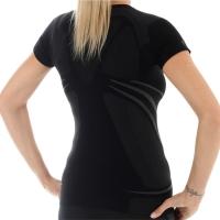 Brubeck Swift Koszulka damska z krótkim rękawem czarna