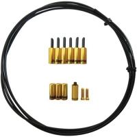 Jagwire Universal Pro Zestaw uszczelnijący linkę przerzutki 4.5mm z końcówkami złoty