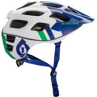 SixSixOne 661 Recon Kask biało zielono niebieski