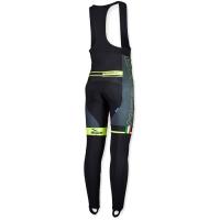 Rogelli Andrano Spodnie rowerowe z wkładką czarno szaro żółte