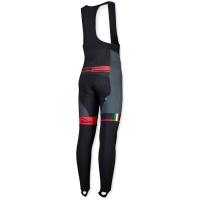 Rogelli Andrano Spodnie rowerowe z wkładką czarno szaro czerwone