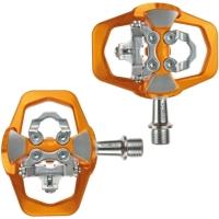 Xpedo Traverse Duo Pedały platformowe SPD MTB / Freeride alu pomarańczowe