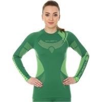 Brubeck Dry bluza damska z długim rękawem zielono limonkowa