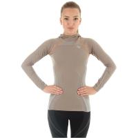 Bluza damska z kapturem fitness cappuccino
