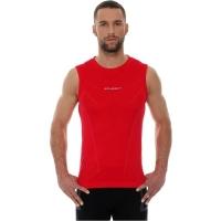 Brubeck Athletic koszulka męska bez rękawów ciemnoczerwona