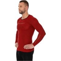 Brubeck Koszulka męska 3D Run PRO z długim rękawem ciemnoczerwona