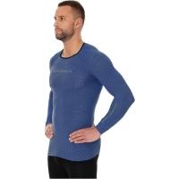 Brubeck 3D Run PRO Koszulka męska z długim rękawem ciemnoniebieska