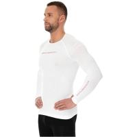 Brubeck 3D Run PRO Koszulka męska z długim rękawem biała