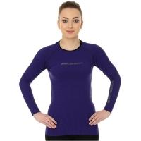 Brubeck 3D Run PRO Koszulka damska z długim rękawem fioletowa