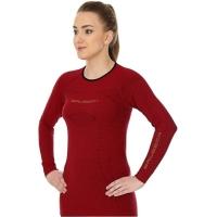 Brubeck Koszulka damska 3D Run PRO z długim rękawem wiśniowa