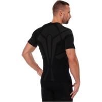 Brubeck Dry koszulka męska z krótkim rękawem czarno grafitowa