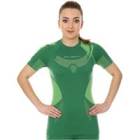Brubeck Dry koszulka damska z krótkim rękawem zielono limonkowa