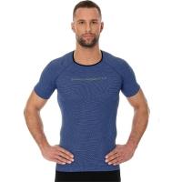 Brubeck Koszulka męska 3D Run PRO z krótkim rękawem ciemnoniebieska