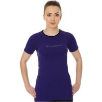Brubeck 3D Run PRO Koszulka damska z krótkim rękawem fioletowa
