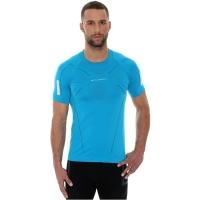 Brubeck Athletic Koszulka męska z krótkim rękawem lazurowa