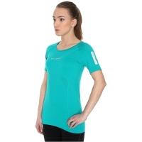 Brubeck Athletic koszulka damska z krótkim rękawem lazurowo zielona