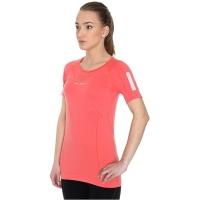 Brubeck Athletic koszulka damska z krótkim rękawem lazurowo koralowa