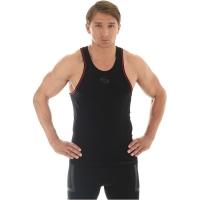 Brubeck Fitness Koszulka męska na ramiączkach czarna