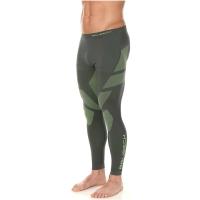 Brubeck Dry Spodnie termoaktywne męskie grafitowo limonkowe