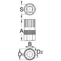 Unior Klucz do demontażu wolnobiegów Shimano 1670.1/4