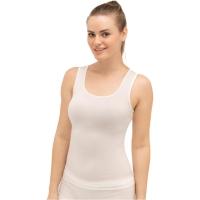 Brubeck koszulka damska bez rękawów comfort wool biała