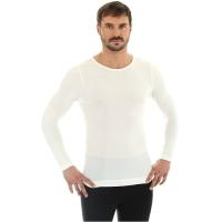Brubeck Koszulka męska z długim rękawem comfort wool kremowa