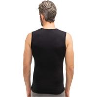 Brubeck Comfort Wool Koszulka męska bez rękawów czarna