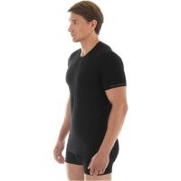 Brubeck koszulka męska z krótkim rękawem bezszwowa czarna