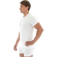 Brubeck koszulka męska z krótkim rękawem bezszwowa biała