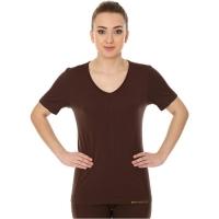 Brubeck Comfort Night Koszulka nocna damska krótki rękaw czekoladowa