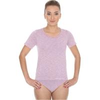 Brubeck Fusion Koszulka damska krótki rękaw różowa
