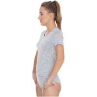 Brubeck Fusion koszulka damska krótki rękaw popielata