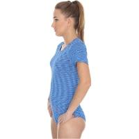 Brubeck Fusion Koszulka damska krótki rękaw niebieska