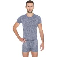 Brubeck Fusion koszulka męska krótki rękaw jeansowa