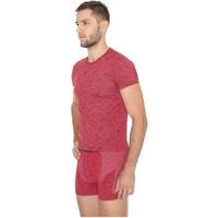 Brubeck Fusion koszulka męska krótki rękaw ciemnoczerwona