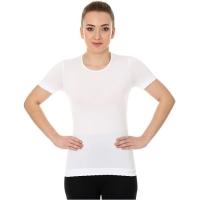 Brubeck koszulka damska z krótkim rękawem bezszwowa biała