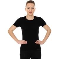 Brubeck koszulka damska z krótkim rękawem bezszwowa czarna