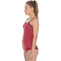 Brubeck Camisole Fusion Koszulka damska na ramiączkach ciemnoczerwona