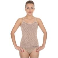 Brubeck Camisole fusion koszulka damska na ramiączkach beżowa